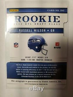 RUSSELL WILSON 2012 Elite ROOKIE Aspirations Auto RC MVP Autograph # /49
