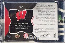 RUSSELL WILSON 2012 Exquisite RPA 2 Clr Patch Auto /150 Rookie Card RC Autograph