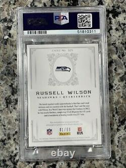 RUSSELL WILSON 2012 NATIONAL TREASURES #325 ROOKIE PATCH AUTO /99 authentic PMJS