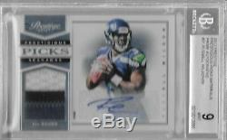 RUSSELL WILSON 2012 Prestige Rookie Patch Autograph #/99 BGS 9/10 Auto SEATTLE