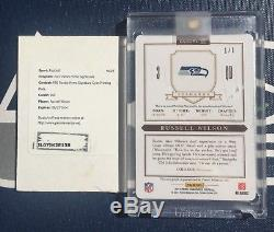 RUSSELL WILSON 2012 Prime Signatures PRINTING PLATE #269 ROOKIE CARD RC Auto
