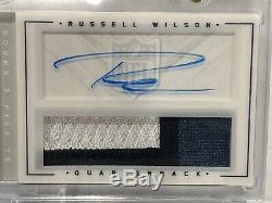 RUSSELL WILSON 2012 ROOKIE PLAYBOOK RC AUTO JERSEY 3 COLOR PATCH 87/149 Seahawks