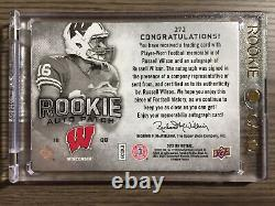 RUSSELL WILSON 2012 SP Authentic Rookie Patch Auto /885 Seattle Seahawks QB RC