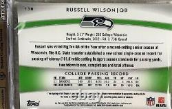 RUSSELL WILSON 2012 Topps Platinum RC Auto/Patch Green Refractor 9/99 BGS 9.5
