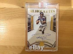RUSSELL WILSON 2015 Crown Royale GOLD SILHOUETTES Card Relic ON CARD Auto 04/10