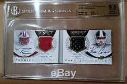 RUSSELL WILSON KIRK COUSINS AUTO RC RPA BGS GEM MINT 2012 Exquisite #24/50 = 1/1