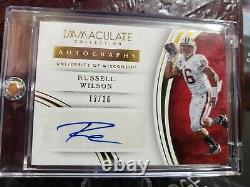 RUSSELL WILSON signed 13/16 SEAHAWKS AUTO 2016 #99 IMMACULATE INK AUTOGRAPH