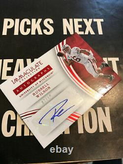 RUSSELL WILSON signed 7/10 SEAHAWKS AUTO SSP 2016 #99 IMMACULATE INK AUTOGRAPH