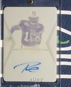 Russell Wilson 1/1 2012 Leaf Draft Rookie Rc Auto Autograph Printing Plate HOT