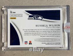Russell Wilson /10 2018 Immaculate Moments 2016 Pro-Bowl MVP On card Auto