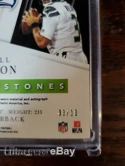 Russell Wilson 19 Majestic Capstones Holo silver On Card Auto 3/10 Seahawks