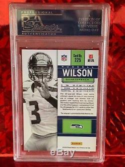 Russell Wilson 2011 Panini Contenders White Jersey Rookie Card PSA 10 Auto SP