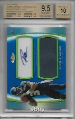 Russell Wilson 2012 Auto / Patch RC Finest BGS 9.5/10 #d /99 Rookie