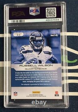 Russell Wilson 2012 Contenders /75 Rookie Ink Card RC ON CARD AUTO PSA 9