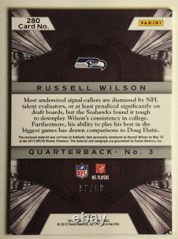 Russell Wilson 2012 Crown Royale Rookie Patch Auto /99 Holo Gold True Rpa
