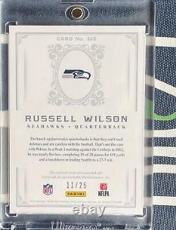 Russell Wilson 2012 National Treasures BLACK #/25 ROOKIE CARD RC PATCH AUTO #325