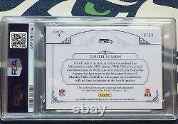Russell Wilson 2012 National Treasures Laundry Tag Signatures AUTO #10/10 PSA 9