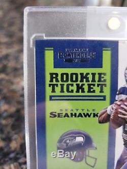Russell Wilson 2012 Panini Contenders #225 Autograph Rc Rookie Card Auto Mint+