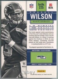 Russell Wilson 2012 Panini Contenders Football #225 Rookie Ticket Auto Seahawks