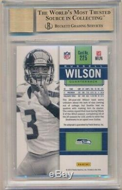Russell Wilson 2012 Panini Contenders Rc Variation White Auto Sp Bgs 9.5 Gem 10
