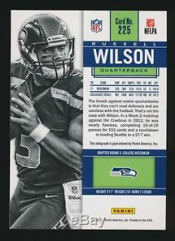 Russell Wilson 2012 Panini Contenders Rookie Ticket Auto Autograph Rc Seahawks