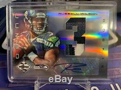 Russell Wilson 2012 Panini Limited Rookie Patch Auto Sea Hawks /25
