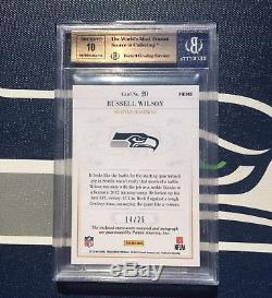 Russell Wilson 2012 Panini National Treasures Rookie Patch Auto #/25 BGS 9.5 10