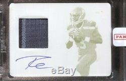 Russell Wilson 2012 Panini Prime Signatures Rookie Patch Auto Printing Plate 1/1