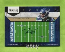 Russell Wilson, 2012 Panini Prominence Rookie #235, Auto, 067/150, Seahawks