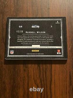 Russell Wilson 2012 Playbook Rookie on card Auto with Jersey Booklet 43/99