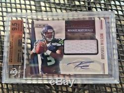 Russell Wilson 2012 Rookies And Stars Jersey Rc Auto 496/499 Bgs 9.5/10au
