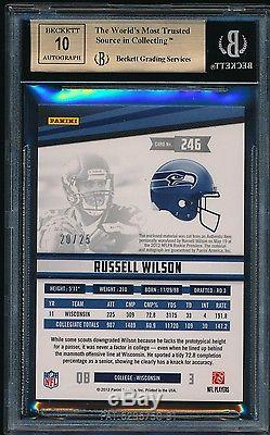 Russell Wilson 2012 Rookies + Stars Longevity Jsy Auto Rc/25 Bgs 9.5 Gem