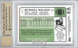 Russell Wilson 2012 Topps 1984 Rookie Auto Rc 063/100 Bgs 9.5/10