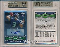 Russell Wilson 2012 Topps Chrome Auto 40 Rookie Rc BGS 9.5 Auto 10 Gem Mint x927