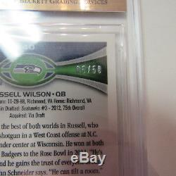 Russell Wilson 2012 Topps Chrome Prism Refractor Rc Auto /50 Bgs 9.5 10 Seahawks