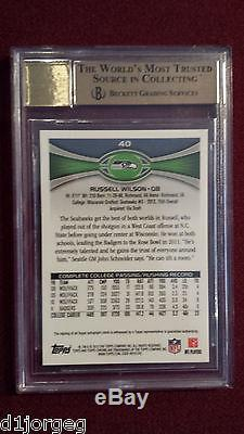 Russell Wilson 2012 Topps Chrome Refractor SSP Variation Auto RC BGS 9.5/10