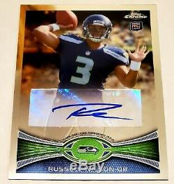 Russell Wilson 2012 Topps Chrome Rookie Auto Autograph Rc Card