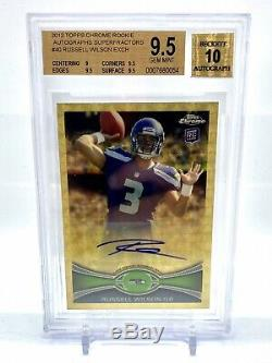 Russell Wilson 2012 Topps Chrome Superfractor 1/1 Auto Rc