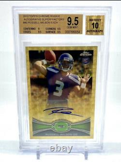 Russell Wilson 2012 Topps Chrome Superfractor 1/1 Auto Rookie Seahawks
