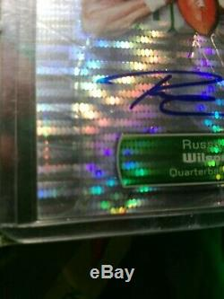 Russell Wilson 2012 Topps Finest Rookie Refractor lot Autos#'d /10 /20 MINT! MVP