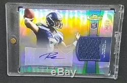 Russell Wilson 2012 Topps Finest auto /75 patch autograph Seahawks ROOKIE RC
