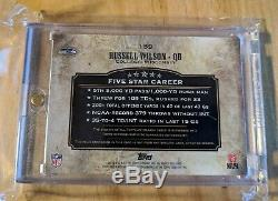 Russell Wilson 2012 Topps Five 5 Star Rc Jumbo Patch On-card Auto Rainbow Sp /25