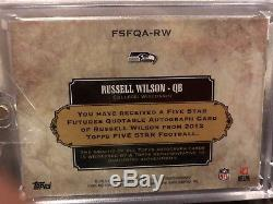 Russell Wilson 2012 Topps Five Star Futures Quotable Matt 633 Auto RC 04/25