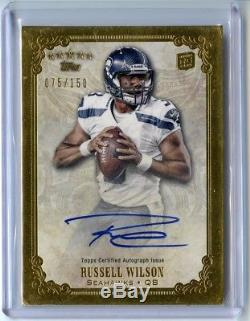 Russell Wilson 2012 Topps Five Star Rookie Autograph /150 RC Auto