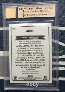 Russell Wilson 2012 Topps Magic BGS 9.5 10 AUTO ROOKIE CARD RC RARE! SP