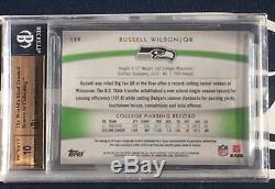 Russell Wilson 2012 Topps Platinum Black Refractor Patch Rc /125 Bgs 9.5 10 Auto