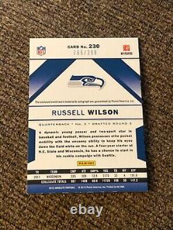 Russell Wilson 2012 absolute jersey auto autograph #230 165/299