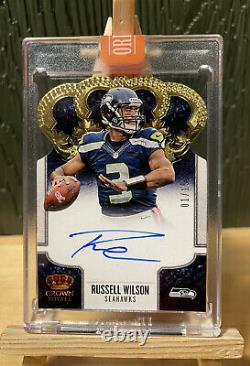 Russell Wilson 2013 Crown Royale 1/15 On Card Auto original from 2020 Honors 1/1