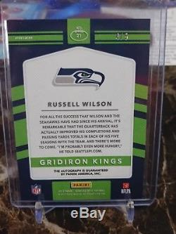 Russell Wilson 2017 Donruss Optic Gridiron Kings Auto # 4/5 Seahawks