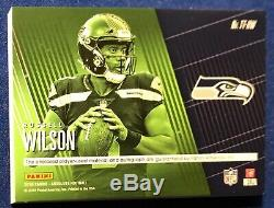 Russell Wilson 2018 Absolute Tools Of The Trade Triple Ball Laundry Tag Auto 1/1